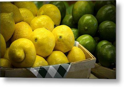 Lemons And Limes Metal Print by Julie Palencia