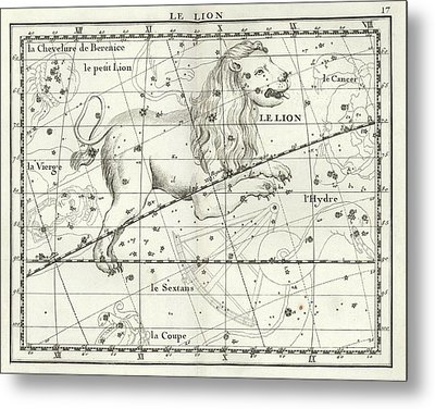Leo Constellation Metal Print by Us Navy