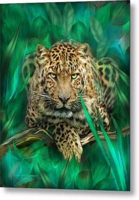 Leopard - Spirit Of Empowerment Metal Print by Carol Cavalaris