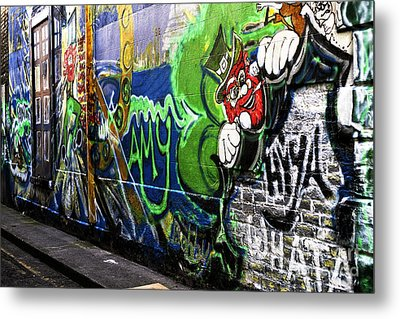 Leprechaun Graffiti Metal Print by John Rizzuto