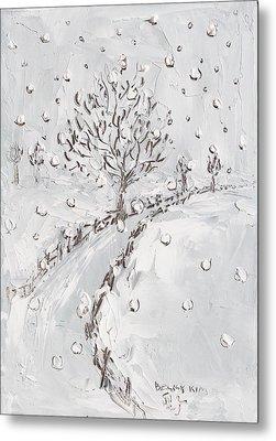 Let It Snow Metal Print by Becky Kim