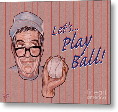 Lets Play Ball Metal Print by Dia T