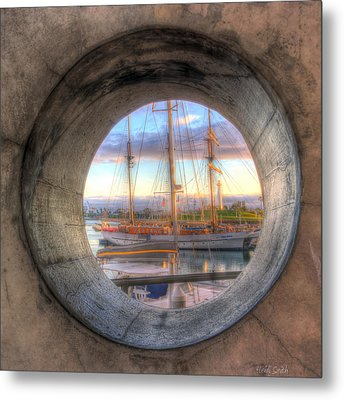 Let's Pretend It's A Porthole Metal Print by Heidi Smith
