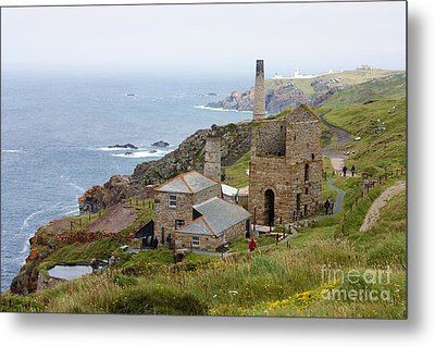 Levant Mine And Beam Engine Metal Print by Terri Waters