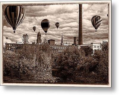 Lewiston Maine Hot Air Balloons Metal Print by Bob Orsillo