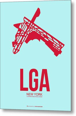 Lga New York Airport 2 Metal Print by Naxart Studio