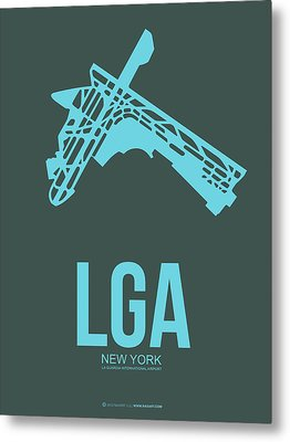 Lga New York Airport 3 Metal Print by Naxart Studio