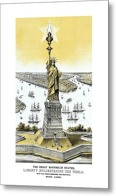 Liberty Enlightening The World  Metal Print by War Is Hell Store