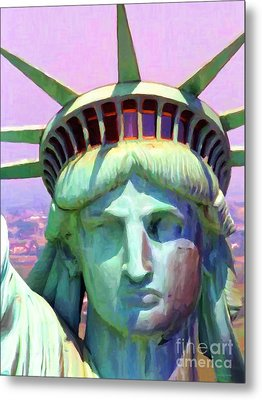 Liberty Head Painterly 20130618 Metal Print by Wingsdomain Art and Photography