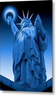 Liberty Shines On In Blue Metal Print by Mike McGlothlen