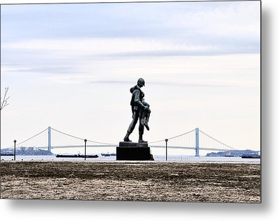 Liberty State Park War Memorial Metal Print by Bill Cannon