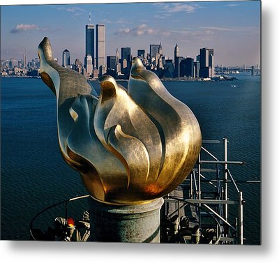 Liberty's Flame Metal Print by Benjamin Yeager