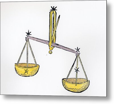 Libra An Illustration From The Poeticon Metal Print by Italian School