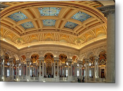 Library Of Congress - Washington Dc - 011322 Metal Print by DC Photographer