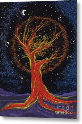 Life Blood Tree By Jrr Metal Print by First Star Art
