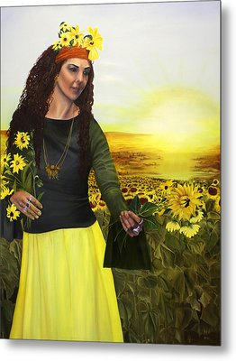 Life Is Precious Handle With Flowers Metal Print by Jane Autry