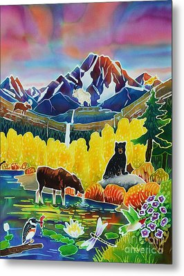 Life Of The Mountains Metal Print by Harriet Peck Taylor