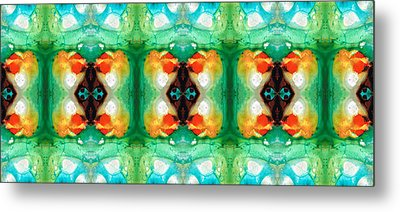 Life Patterns 1 - Abstract Art By Sharon Cummings Metal Print by Sharon Cummings