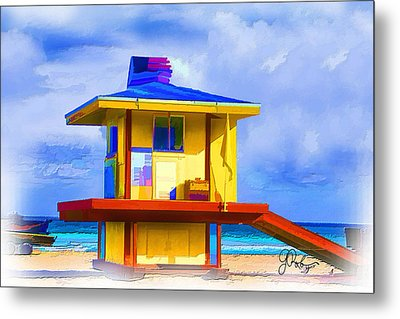 Lifeguard Station Metal Print by Gerry Robins