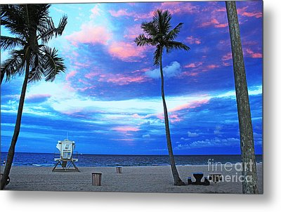 Life's A Beach Metal Print by Alison Tomich