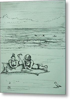 Life's A Beach Metal Print by Pete Maier