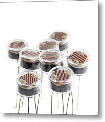 Light Dependent Resistors Metal Print by Science Photo Library