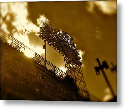 Light  Fenway Park Metal Print by Iconic Images Art Gallery David Pucciarelli