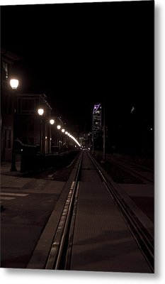 Light Rail Metal Print by Doug Hubbard