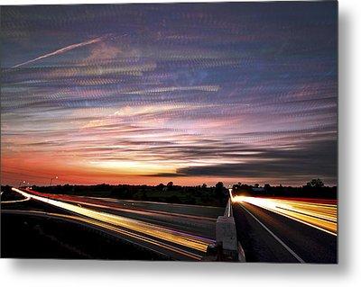 Light Speed Sunset Metal Print by Matt Molloy