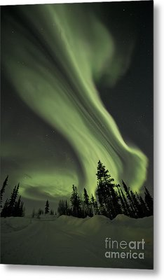 Light Swirls Over The Midnight Dome Metal Print by Priska Wettstein