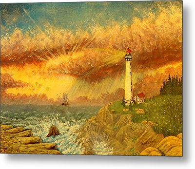 Light That Guides Thee  Metal Print by David Bentley