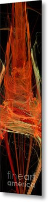 Light The Torch A Flickering Flame - Panorama  - Abstract - Fractal Art Metal Print by Andee Design