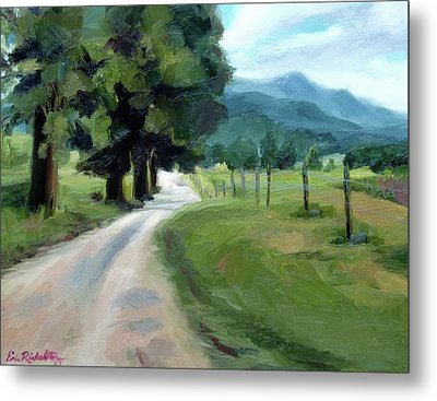 Lighted Path Of Cades Cove Metal Print by Erin Rickelton