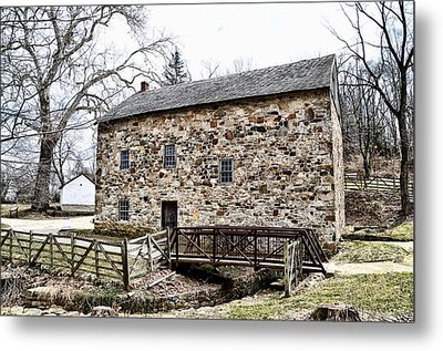 Lightfoot Mill At Anselma Chester County Metal Print by Bill Cannon