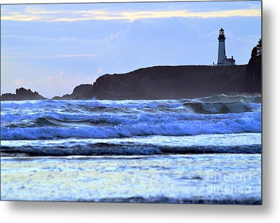 Lighthouse Blues Metal Print by Sheldon Blackwell