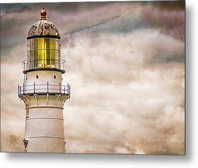 Lighthouse Cape Elizabeth Maine Metal Print by Bob Orsillo