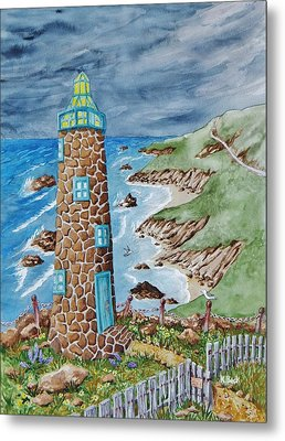 Lighthouse Metal Print by Katherine Young-Beck