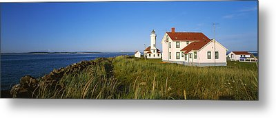 Lighthouse On A Landscape, Ft. Worden Metal Print by Panoramic Images