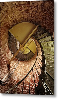 Lighthouse Stairwell Metal Print by Andrew Soundarajan
