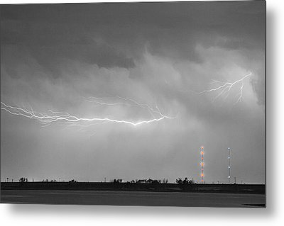 Lightning Bolting Across The Sky Bwsc Metal Print by James BO  Insogna