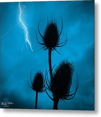 Lightning Spikes Metal Print by Michael Rucker