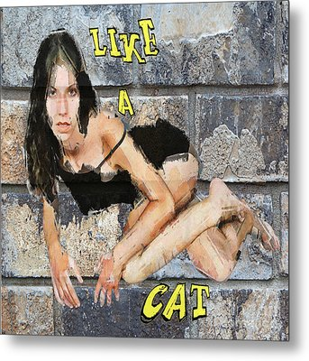 Like A Cat Metal Print by Andrew Govan Dantzler