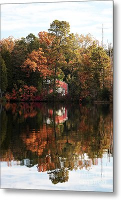 Lil Red On The Lake Metal Print by John Rizzuto