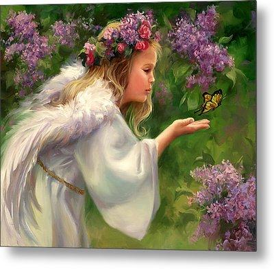 Lilac Angel Metal Print by Laurie Hein