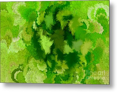 Lilac Of The Valley Green White Metal Print by Holley Jacobs