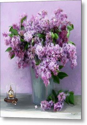 Lilac Spring Metal Print by Yvonne Della-Moretta