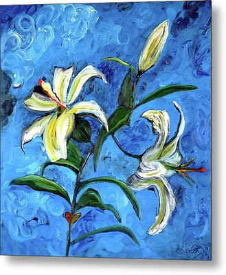 Lilies Metal Print by Gregory Allen Page