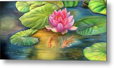 Lilly Pond Metal Print by Kathy Brecheisen