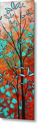 Lilly Pulitzer Inspired Abstract Art Colorful Original Painting Spring Blossoms By Madart Metal Print by Megan Duncanson