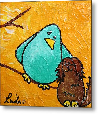 Limb Birds - Bird Dog Metal Print by Linda Eversole